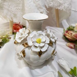 Bình hoa trang trí bằng sứ