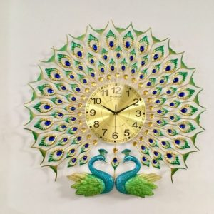 Đồng hồ trang trí đẹp hình con công DH010