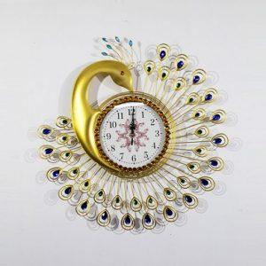 Đồng hồ treo tường con công DH006