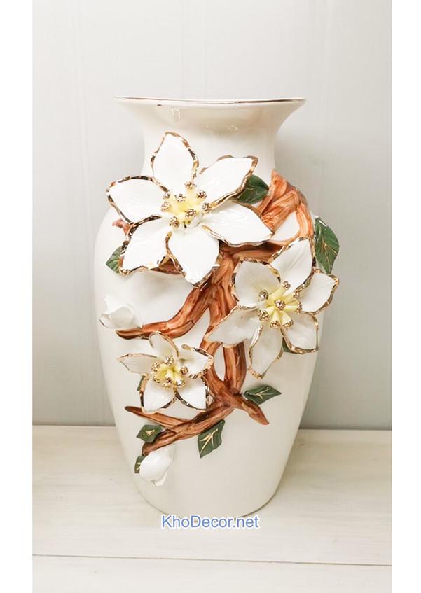 Bình hoa gốm sứ cao cấp BH005