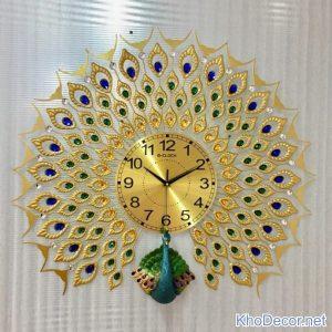 Đồng hồ con công 3d DH004