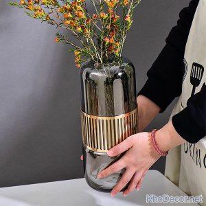 lọ hoa thủy tinh sang trọng bh018