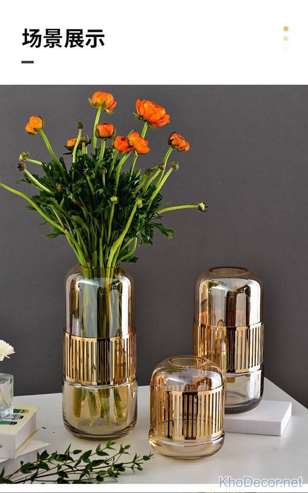 mẫu bình hoa thủy tinh đẹp