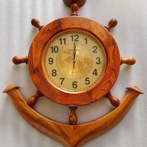 Đồng hồ gỗ hình mỏ neo DH018