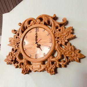 Đồng hồ gỗ treo tường đẹp DH019