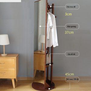 Gương soi toàn thân gỗ GT015